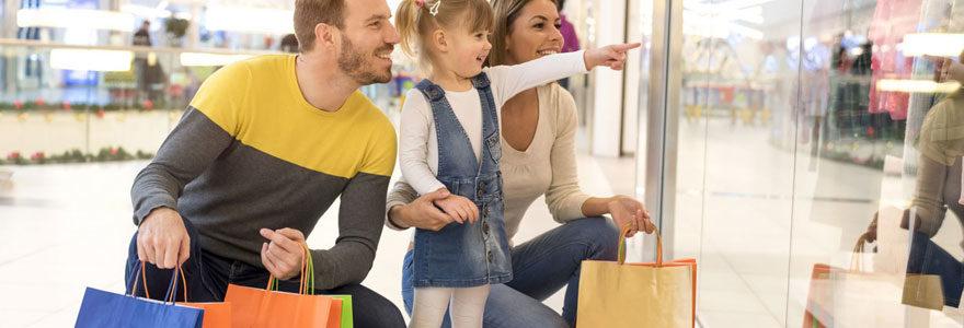 shopping en famille